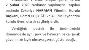 2020 Genel Kuru Bildirimi